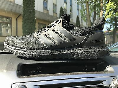 Adidas Ultra Boost 3.0 triple black running shoes