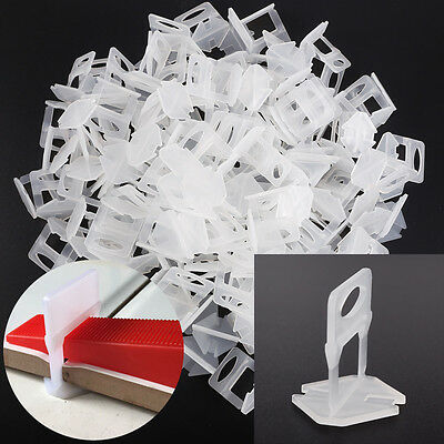 200pcs Wall Floor Tile Flat Leveling System Spacers Straps Clips Device Kits 1mm