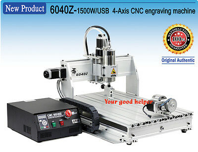 4Axis 6040 1500W USB Mach3 Engrave Drilling/Milling CNC Router Machine 220V/110V