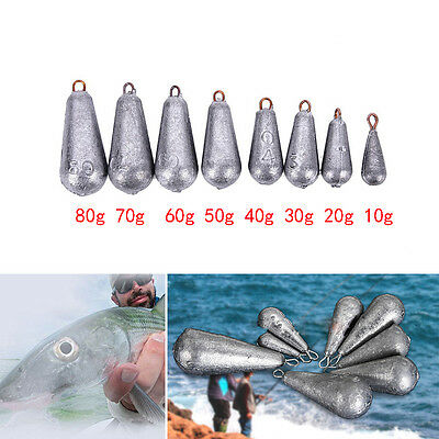 5× Drop Shot Water droplets Finesse Weight Lead Sinker Terminal with Rigs W&T