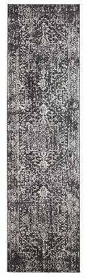 Hallway Runner Hall Rug Traditional Design Extra Long FREE DELIVERY Charcoal