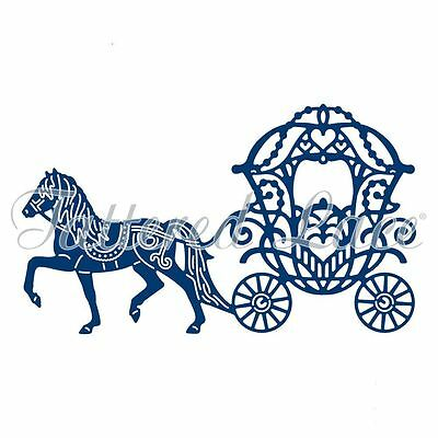 Tattered Lace ENCHANTED CARRIAGE Craft Die - D1201 - Horse & Princess Carriage