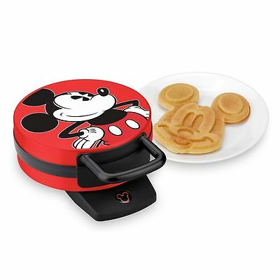 Disney's Mickey Mouse Non-Stick Electric Waffle Maker Red and Black Model DCM-12