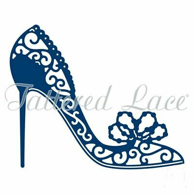 Tattered Lace PEARL HEEL Craft Die - D1216 - Glam High Shoe Free P&P