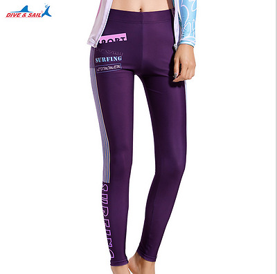 Women Surfing Trousers Leggings Fitness Diving Rash Guard Long Pants Tights