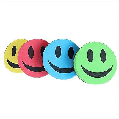1x Magnetic Smiling Face Whiteboard Eraser Rubber Cleaner Blackboard Random