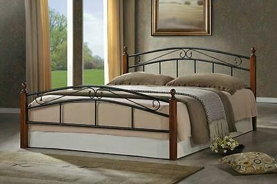 Black & White Iron Bed Frame in Single/Double/Queen