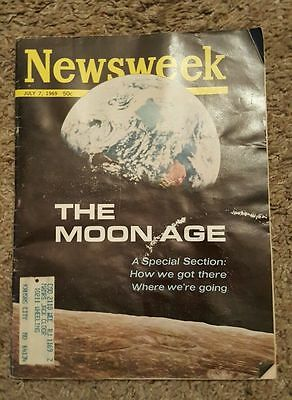 1969 The Moon Magazine Newsweek July 7  Astronauts Space. The Moon Age!!!!