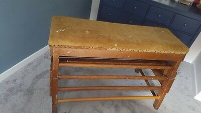 Vintage School Wooden and Suede Gym Horse