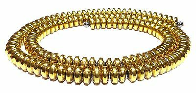 Hematite gold coloured Rondelle in 4x2 mm or 6x3 mm Pearl Strand