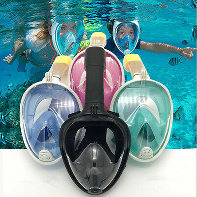 180 View Full Face Snorkel Mask Breathe Free Ocea Diving Mask Set for Adult Kids