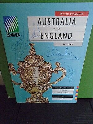 Rugby World Cup Final Programme 1991  England v Australia and match ticket