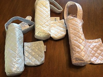 Spanish Blue, Pink Or Cream baby bottle & Dummy holder/ Bag  BNWT  Romany