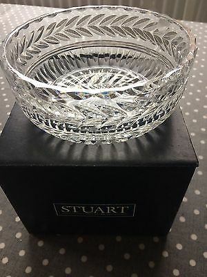 Stunning Stuart Crystal Cut Glass Heavy Bowl - 15 cm Diameter X 6.5 Cm Deep.