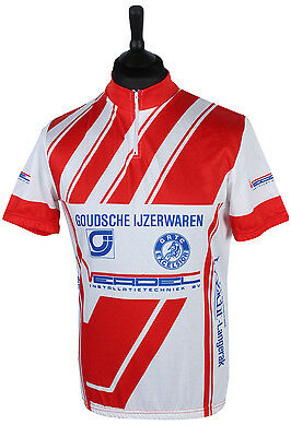 Cycling Jersey Tops Shirt Cycle Vintage Retro Sport Race - Multi L - CW0425