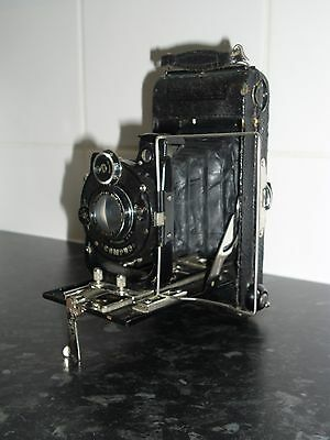 Vintage Carbine Ensign No 5 Anastigmat Folding Camera & Case Houghton Butcher