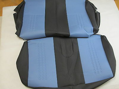 NEW GENUINE FIAT PANDA 2003-2009 REAR SEAT COVERS COVER AZURE 2 pcs 4 person