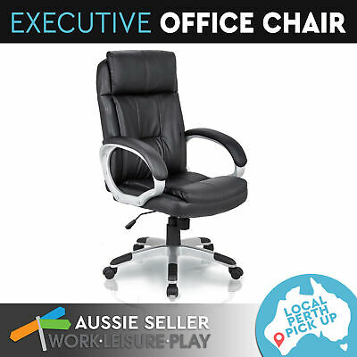 Executive Office Chair Computer High Back Swivel Gas Lift Black