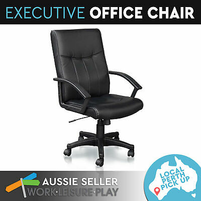Executive Office Computer Chair Recliner Work Seat Premium PU Leather High Back