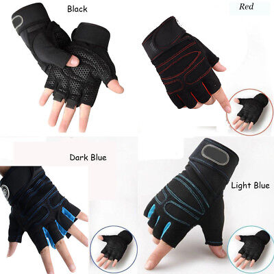 Weight lifting Gym Gloves Training Fitness Wrist Wrap Workout Exercise Sport