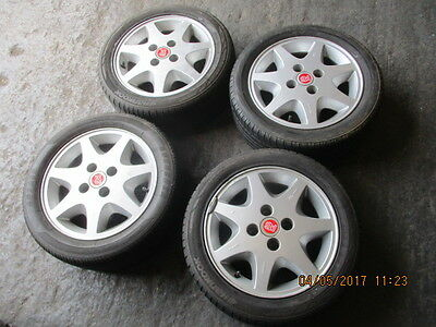 Genuine Set Of 4 Ford Escort Rs Turbo Series 1 Wheels And Tyres Good Lettering