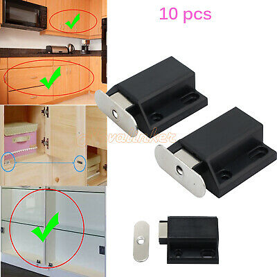10x Push To Open Touch Release Cabinet/Cupboard Door Catch Latch Hinge Magnetic