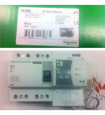 Diferencial Rearmable Marca Schneider Electric 40/4/30 mA Clase A Ref: 18266