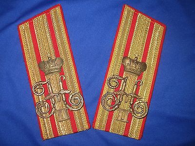 Gold epaulettes colonel Cavalry&Cossack  Imperial  Russian Army tsar Nicholas 2