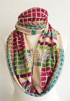 Periodic Table Scarf, Chemistry Scarf, Periodic table gift