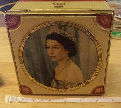 Queen Elizabeth 1953 Coronation Henry Thorne Toffee Tin
