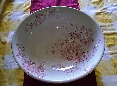 Antique large wash bowl basin W H & co Hanley BYRON 1892-8