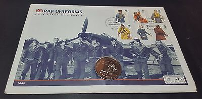 2008 RAF Uniforms Five Pounds Coin First Day Cover