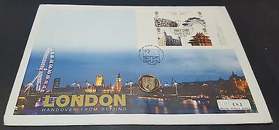2008 London Handover From Beijing One Pound Coin Cover