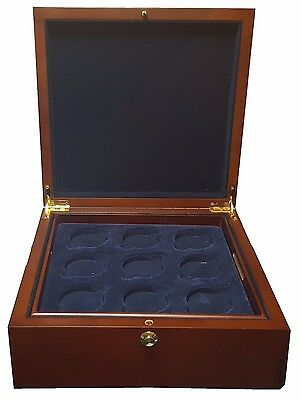 EMPTY Large Wooden Presentation Box - Storage for 18 Coins