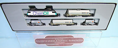 Marklin 'z' Gauge 81427 Swiss 'chem Oil' Tank Car Set Boxed #111W