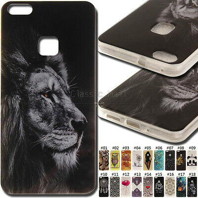 For Huawei P10 Lite TPU Fashion Rubber Cover Case Soft Shell Back Various Skin