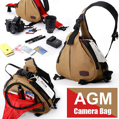 Waterproof  DSLR SLR Camera Sling Shoulder Bag Case for Canon Nikon Sony