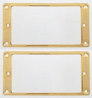 Allparts PC-0741-002 Humbucker Mounting Ring Set - Gold Plated Flat Metal