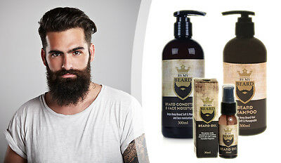 Beard & Moustache Care Essentials Lot - Shampoo, Conditioner & Oil, Grooming Kit
