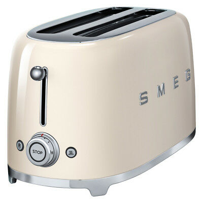 NEW Smeg 50s Retro Style Cream Four-Slice Toaster