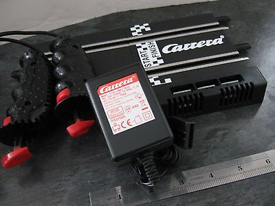 CARRERA GO 1:43 SCALE, POWER TRACK, MAINS ADAPTOR/Supply and 2 HAND CONTROLLERS