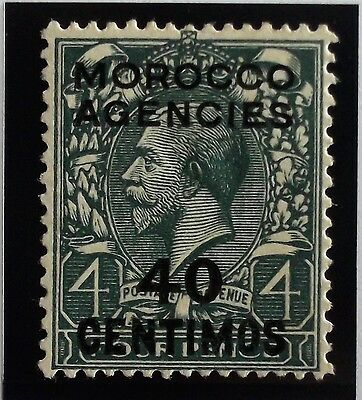 (D244) Spanish Issue 1930 SG148a 40c 0n 4d Surcharge Double one Albino (1)  MH.