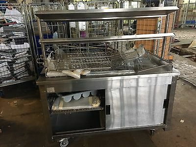 MOFFAT VCSC4 Stainless SteeL TABLE WITH UNDER STORAGE AND PULL OUT TRAY STAND