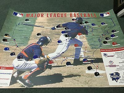 Rare Major League Baseball Huge Print Teams Across America - National League