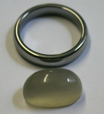 Natural Loose Moonstone 9X16Mm Oval 8Mm Bullet Shaped Cabochon 9.4Ct Mu23