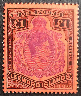 (A083) Leeward Is 1952 #114c £1 (1) MH.