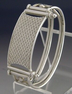 Superb English Sterling Silver Novelty Tennis Napkin Ring London 2012