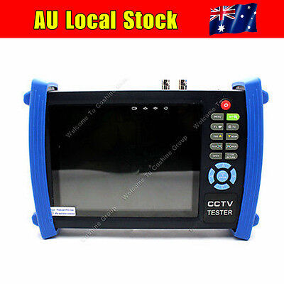 "AU! 7"" LCD CCTV Security Camera Tester Monitor Analog HDMI VGA Cable HVT-3600"