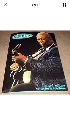 B.B. KING ~ IN CONCERT ~ LIMITED EDITION COLLECTORS BROCHURE  20pp~EX+