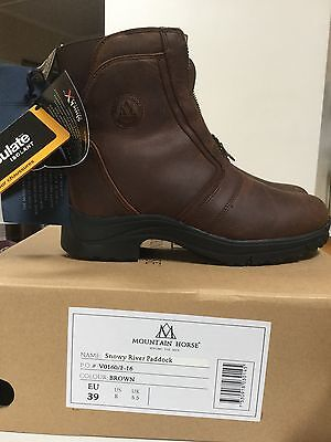 Mountain Horse Snowy River Zip Paddock Boots Size 5.5